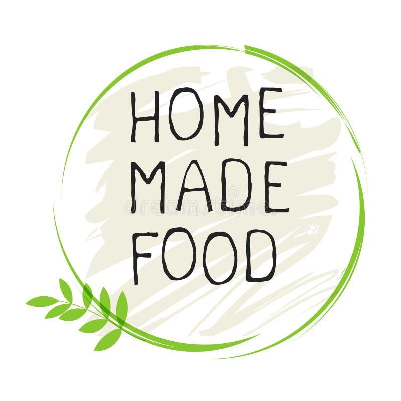 A casa fez a etiqueta do alimento e os crach?s de alta qualidade do produto Do alimento saud?vel puro de Eco do bio produto org?n ilustração royalty free