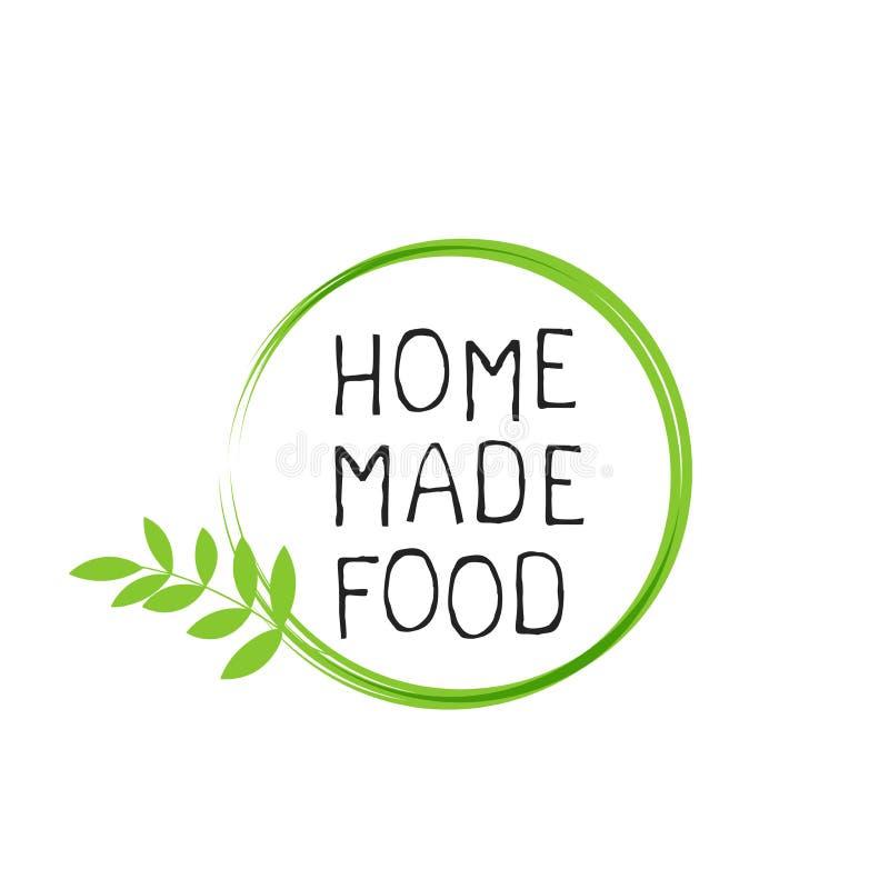 A casa fez a etiqueta do alimento e os crach?s de alta qualidade do produto Do alimento saud?vel puro de Eco do bio produto org?n ilustração stock
