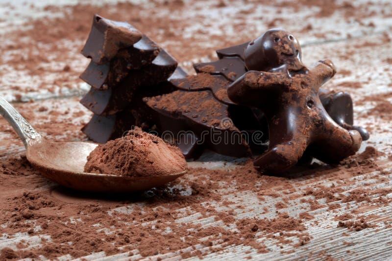 A casa fez o chocolate escuro foto de stock