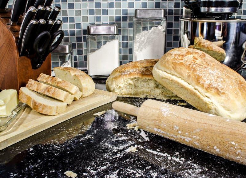 A casa fez o pão imagens de stock royalty free