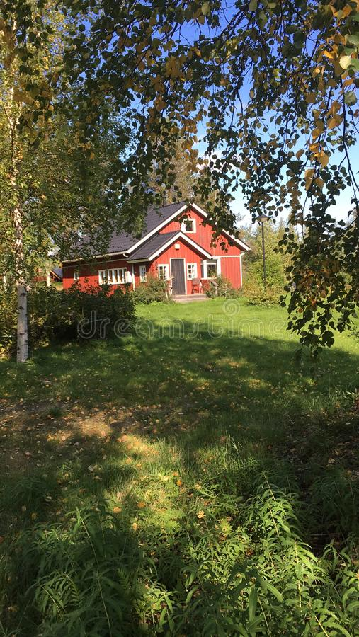 Casa finlandesa imagem de stock royalty free