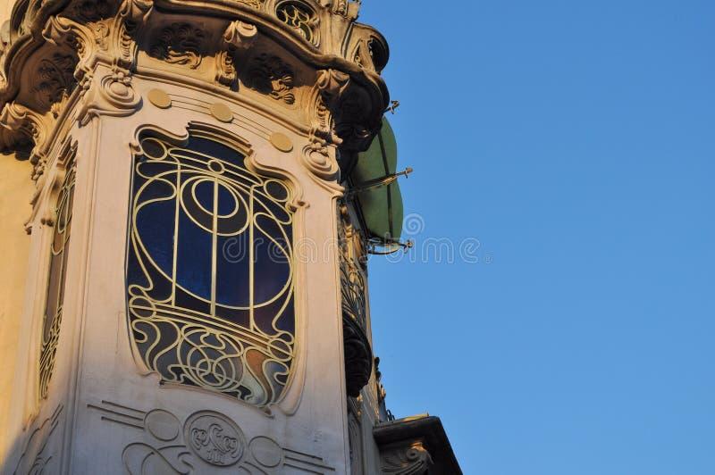 Casa Fleur in Turin. TURIN, ITALY - CIRCA SEPTEMBER 2016: Casa Fleur aka Casa Fenoglio liberty house royalty free stock images