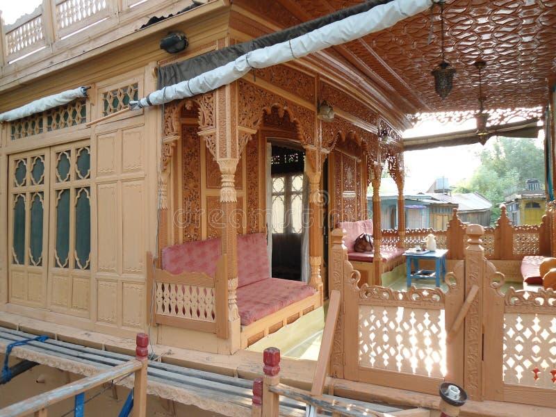 Casa flotante en Cachemira imagen de archivo libre de regalías