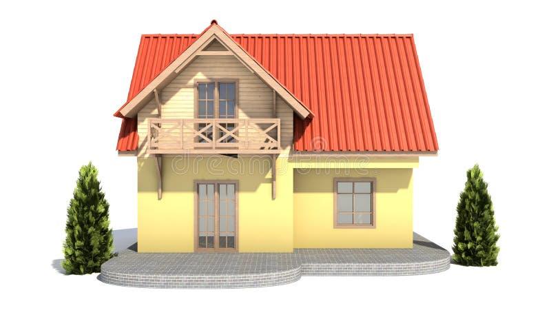 Casa Fondo Blanco Stock De Ilustraci N Ilustraci N De