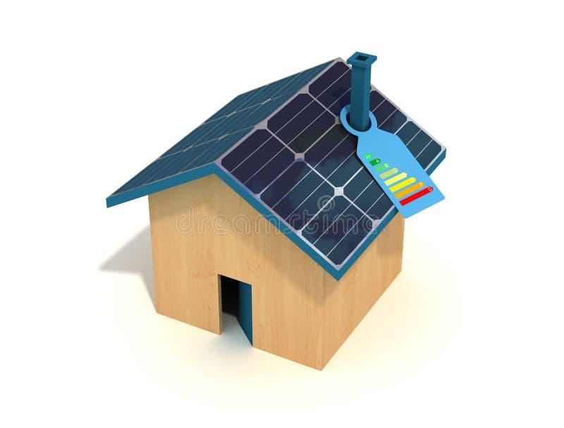 Casa fotovoltaica royalty illustrazione gratis