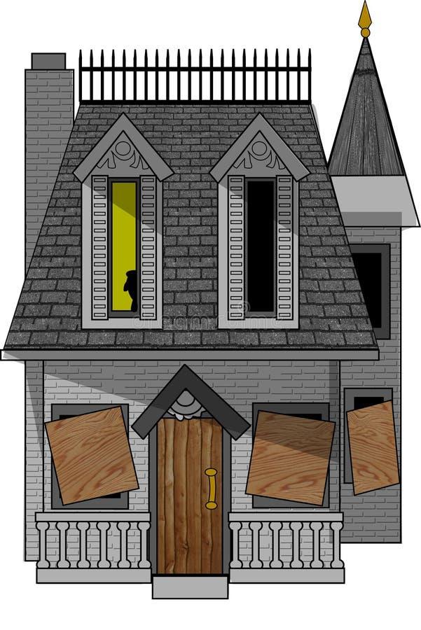 Casa frecuentada ilustración del vector