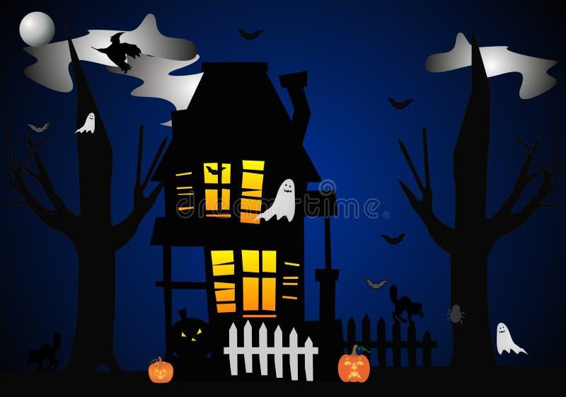 Casa frequentata su Eve Hallowed illustrazione di stock