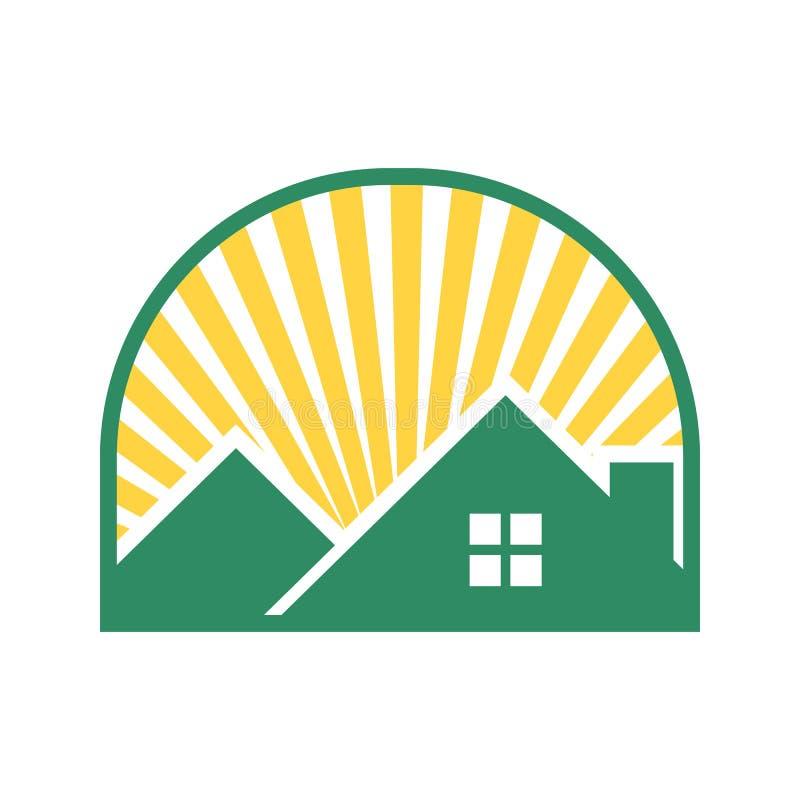 Casa futura brillante Windowed stock de ilustración