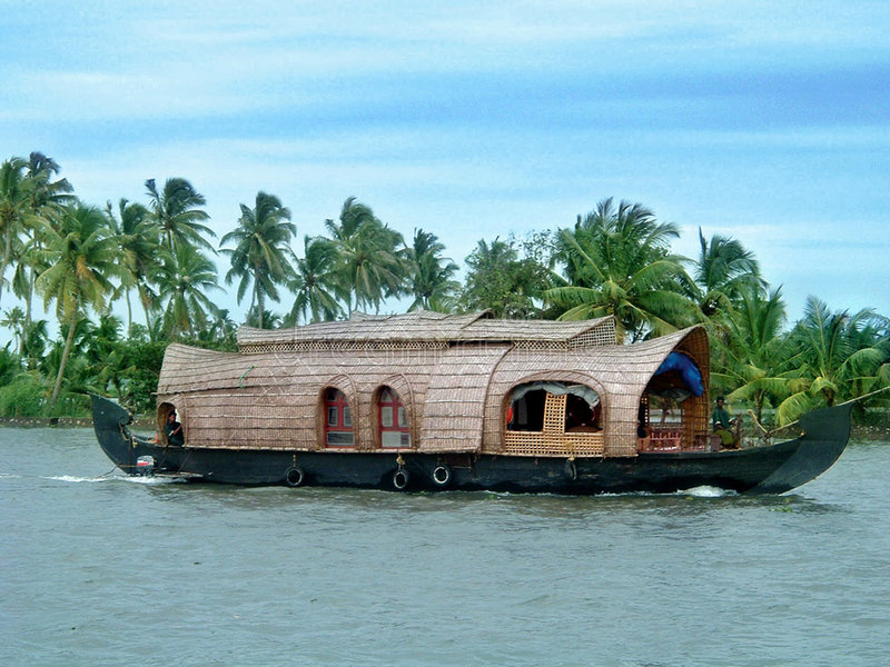 Casa galleggiante immagine stock