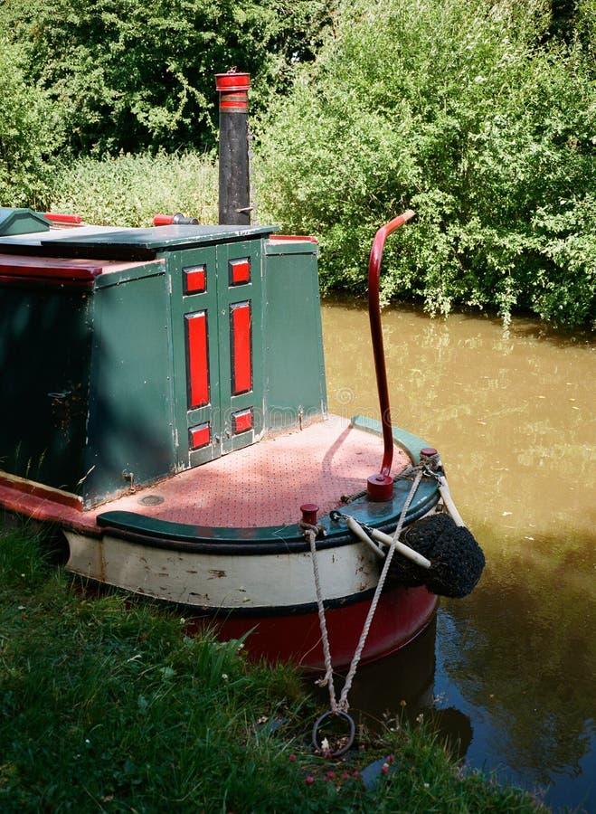 Casa galleggiante del canale fotografia stock