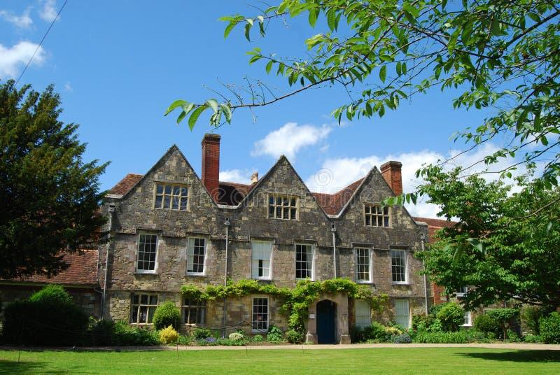 Casa Georgian fina, Winchester, Hampshire imagem de stock