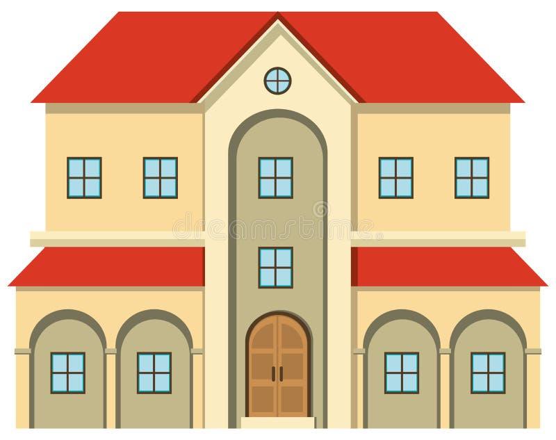 Casa grande com muitas janelas ilustração royalty free