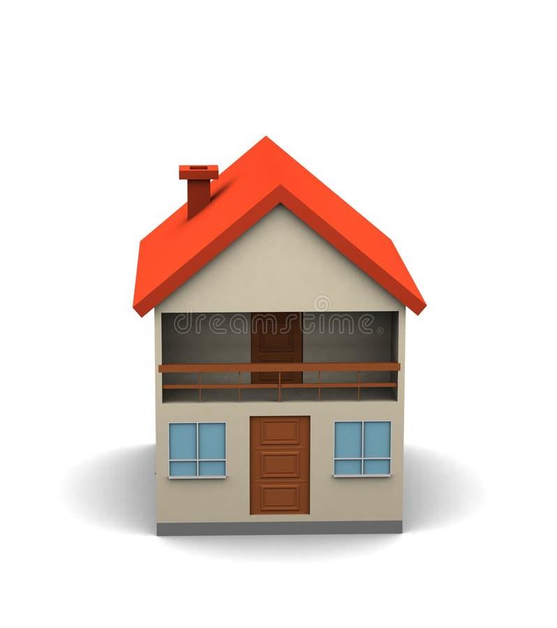 Casa grande isolada ilustração stock
