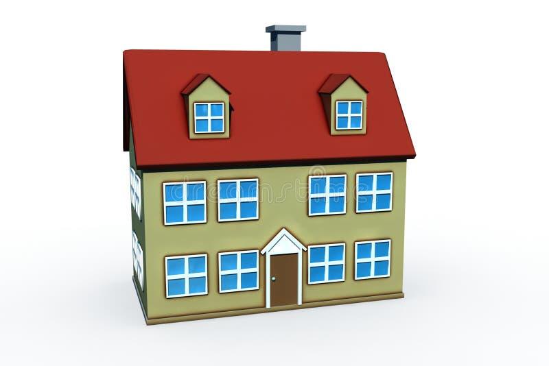 Casa grande isolada ilustração royalty free