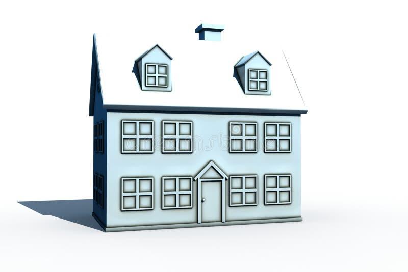 Casa grande isolada ilustração do vetor