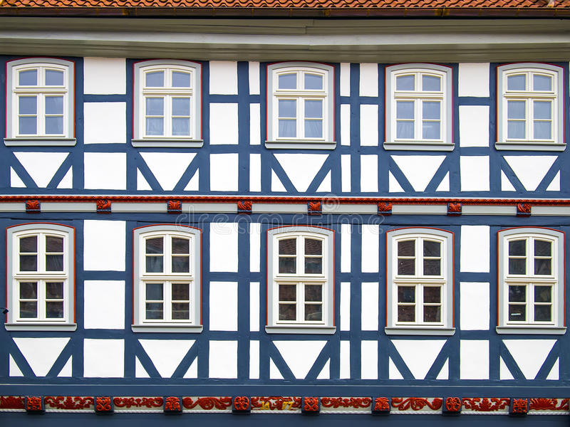 Casa a graticcio di Facad in Duderstadt, Germania fotografie stock libere da diritti