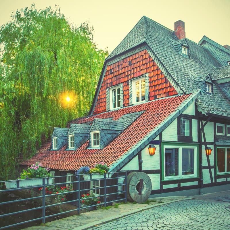 Casa a graticcio in Goslar fotografia stock