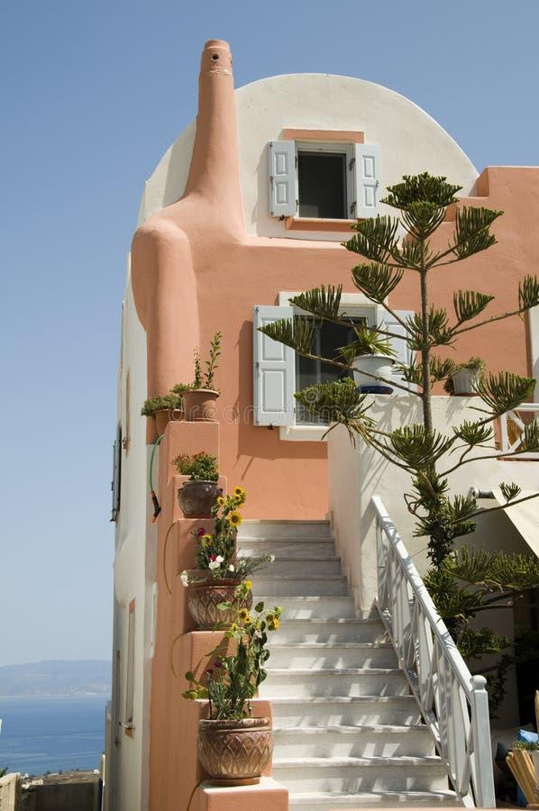 Casa greca delle Cicladi dell'isola fotografia stock libera da diritti