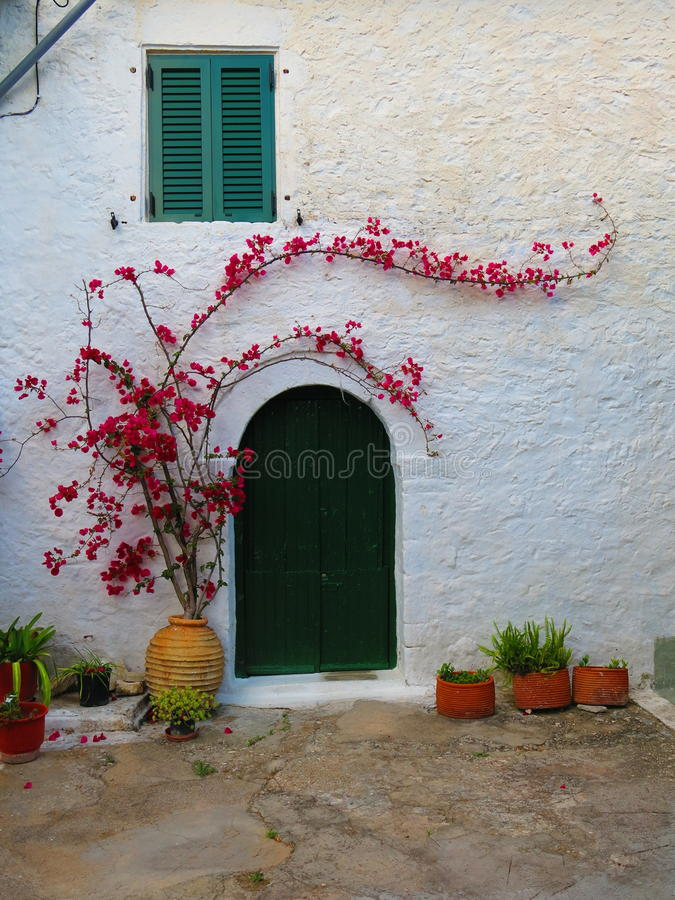 Casa greca imbiancata immagine stock