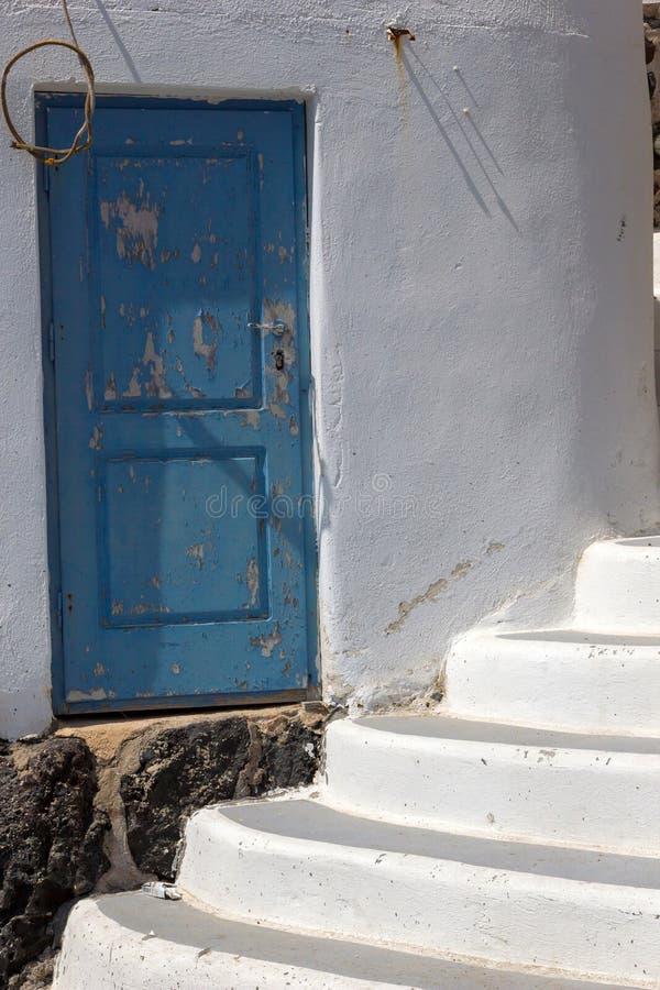 Casa greca tradizionale sull'isola di Mykonos immagini stock libere da diritti