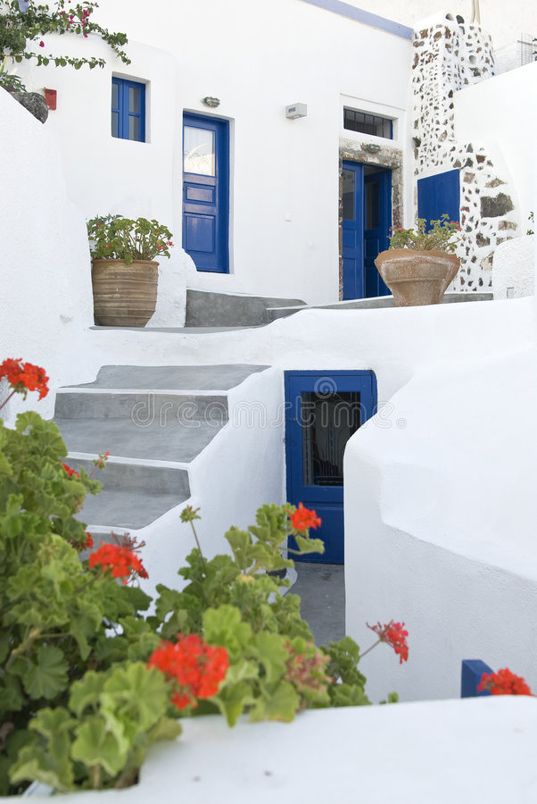 Casa grega fotografia de stock