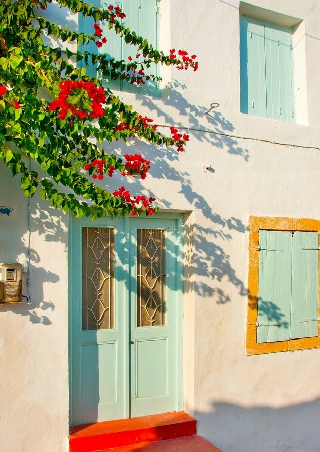Casa grega tradicional velha imagem de stock