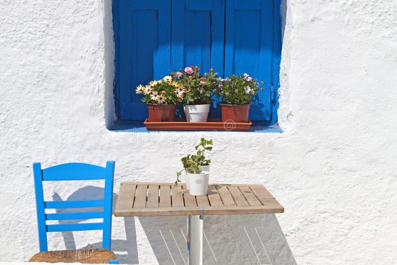 Casa griega tradicional fotos de archivo