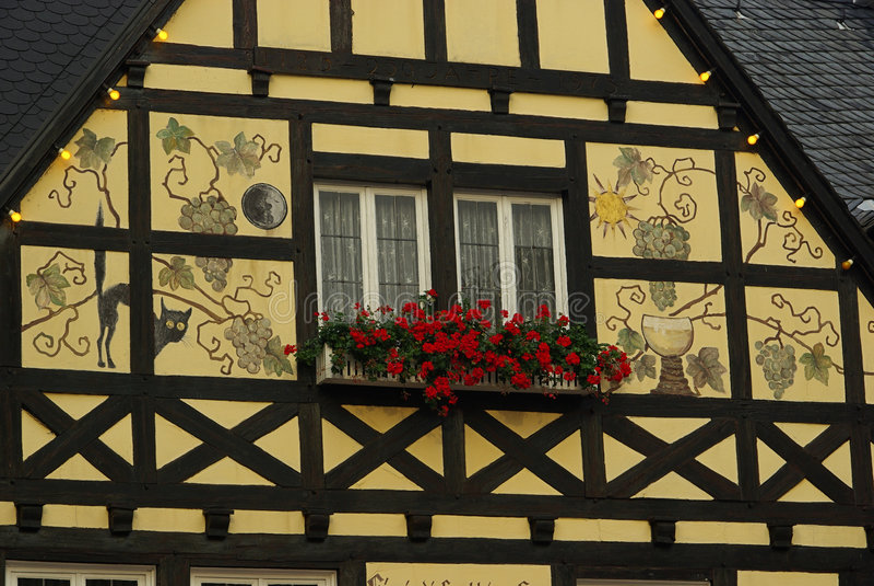 Casa half-timber de Ruedesheim fotografia de stock royalty free