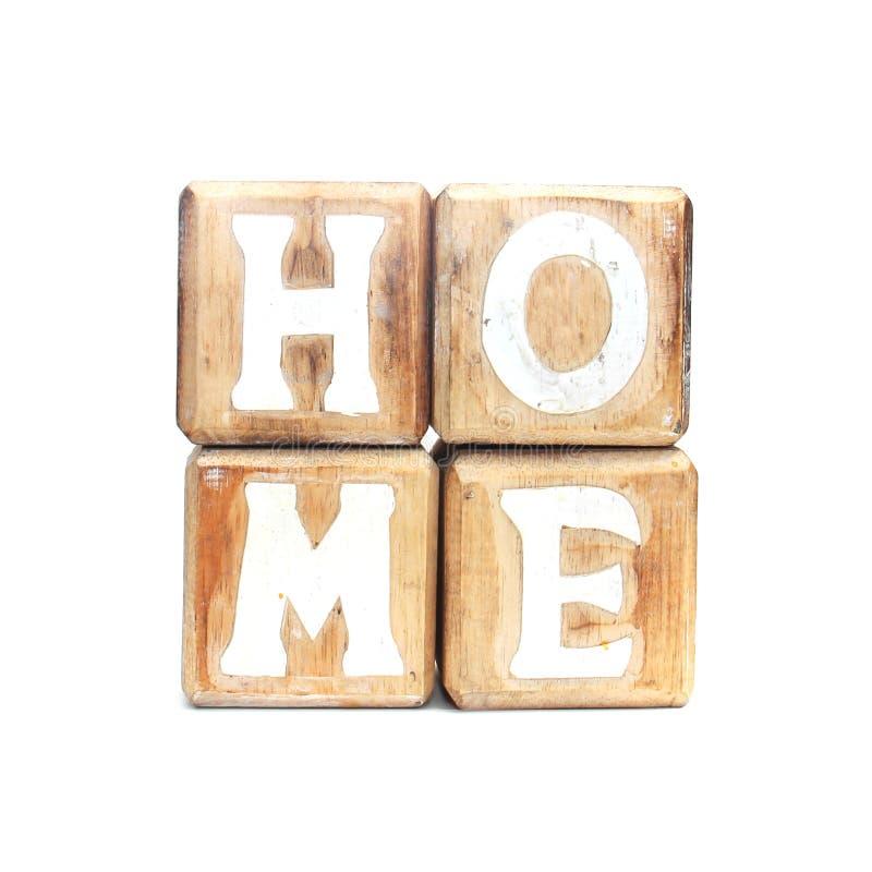 Casa hecha del juguete de madera imagen de archivo