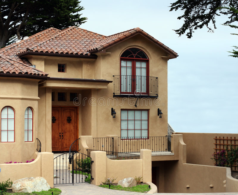 Casa hermosa de California imágenes de archivo libres de regalías