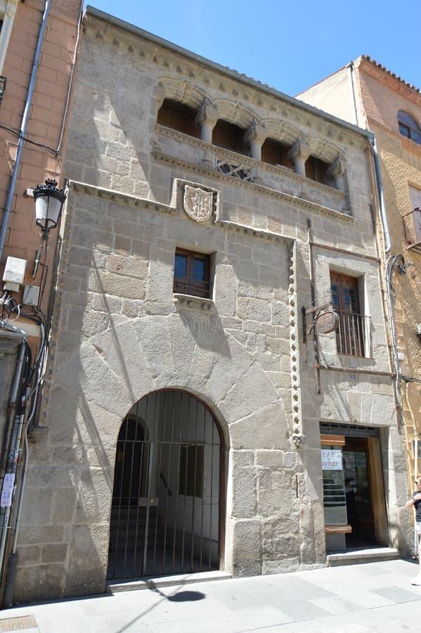 Casa hermosa de la era medieval en el centro Segovia Arquitectura, viaje, historia fotos de archivo libres de regalías
