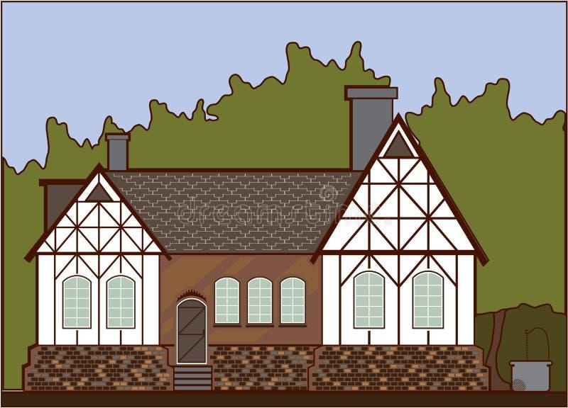 Casa histórica stock de ilustración