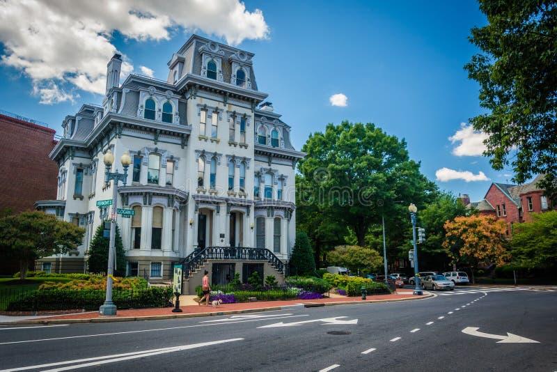 Casa histórica ao longo de Logan Circle, em Washington, C.C. fotografia de stock