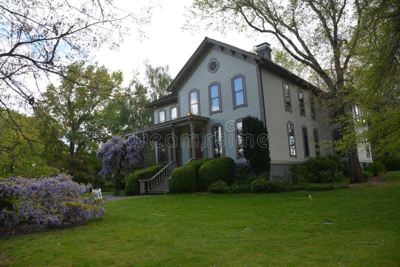 Casa histórica de Bush en Salem, Oregon fotografía de archivo libre de regalías