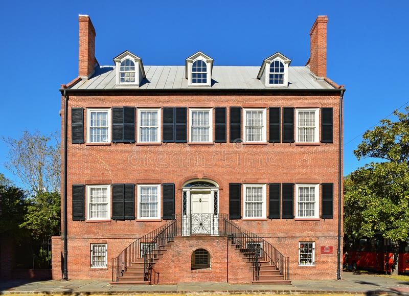 A casa histórica de Isaiah Davenport no savana, Geórgia fotos de stock royalty free