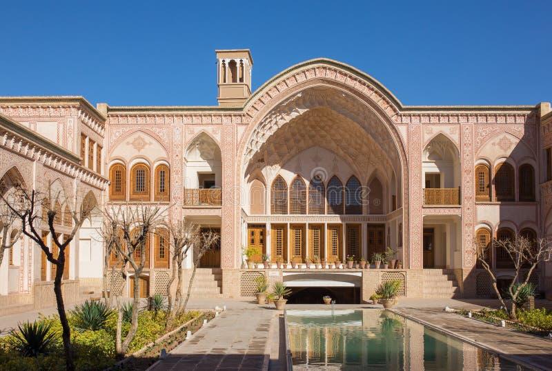 Casa histórica de Khan-e Ameriha em Kashan imagens de stock royalty free