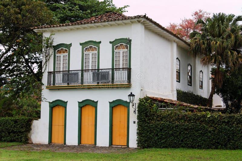 Casa histórica de Paraty imagem de stock