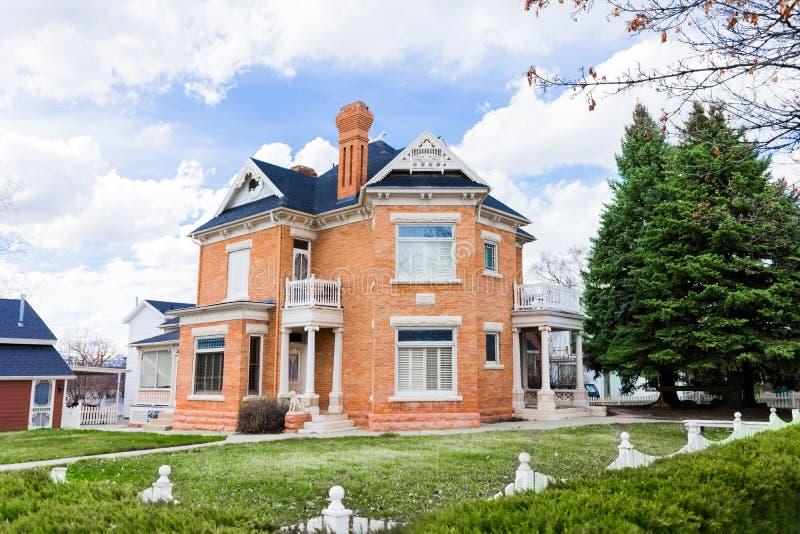 Casa 1897 histórica do tijolo fotografia de stock