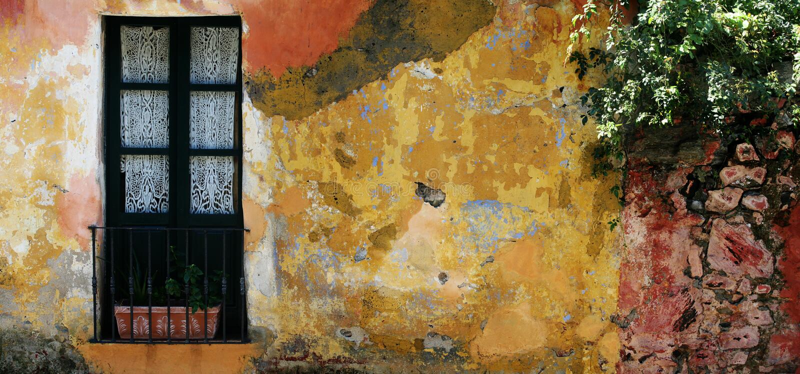 Casa histórica em Uruguai foto de stock
