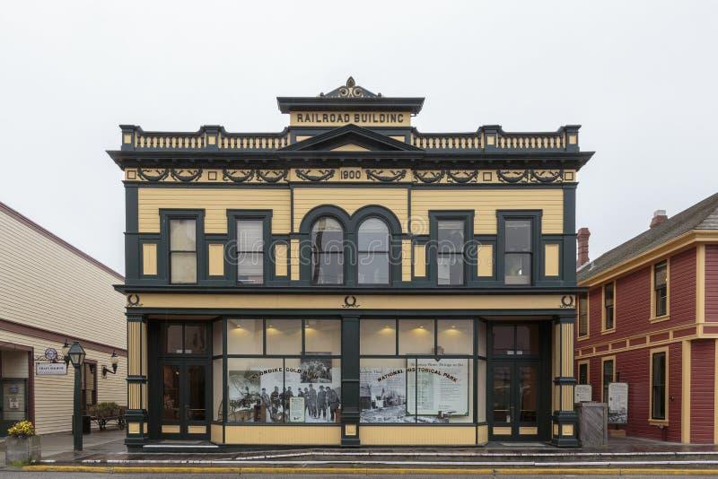 Casa histórica vieja de la fiebre del oro en Skagway, Alaska fotos de archivo