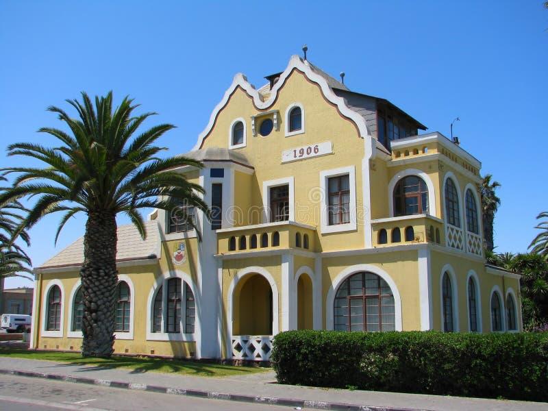Casa histórica vieja en Swakopmund fotografía de archivo libre de regalías