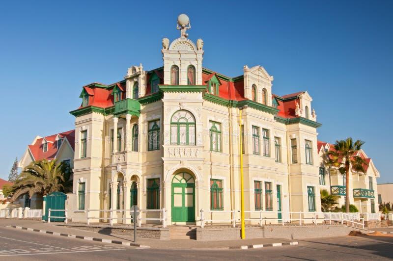 Casa Hohenzollern estilo alemão em Swakopmund, Namíbia, África imagem de stock royalty free