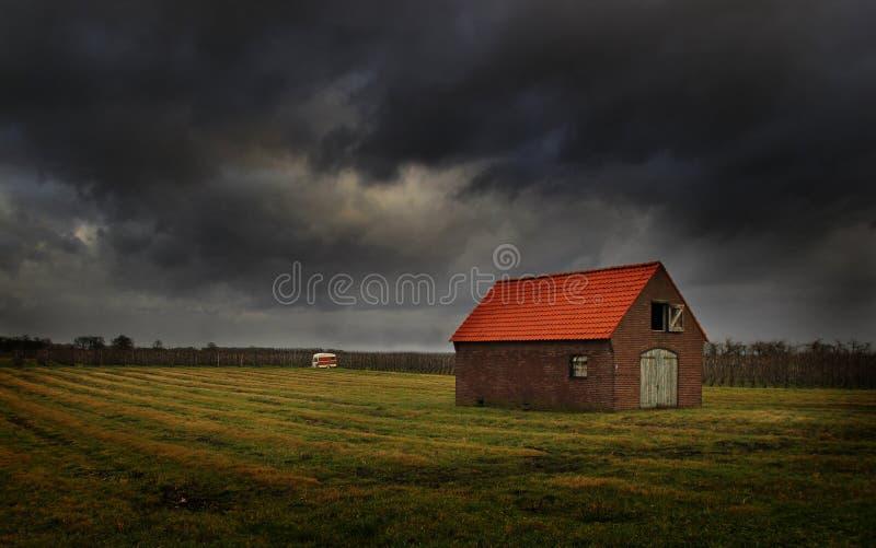 Casa holandesa da exploração agrícola imagens de stock royalty free