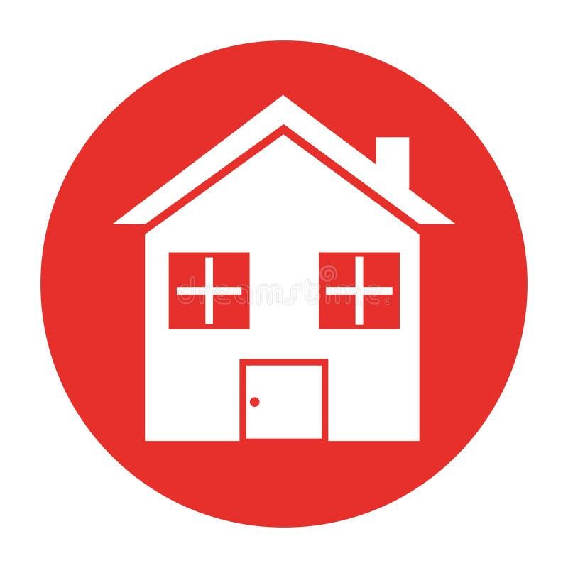 Casa home ícone isolado ilustração do vetor
