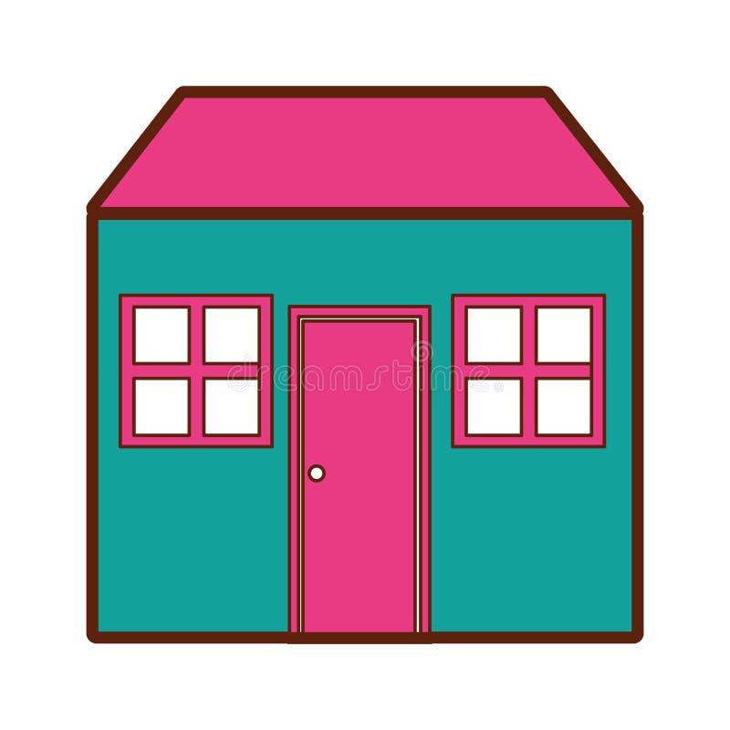 Casa home ícone isolado ilustração royalty free