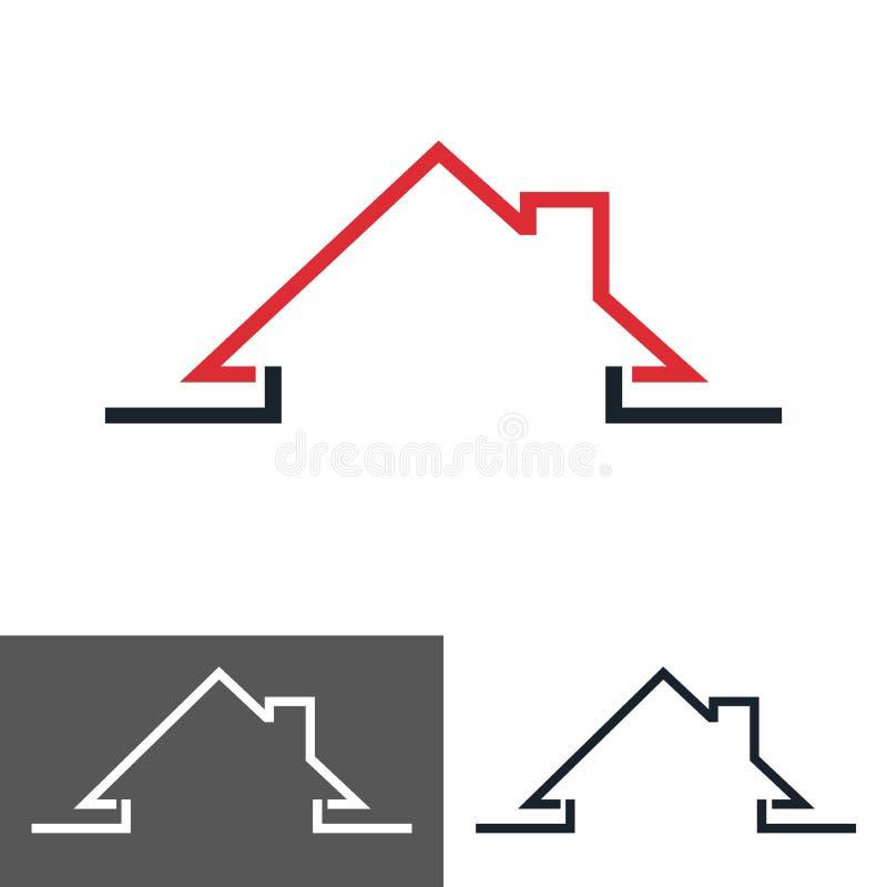 Casa, icona della casa, logo illustrazione vettoriale