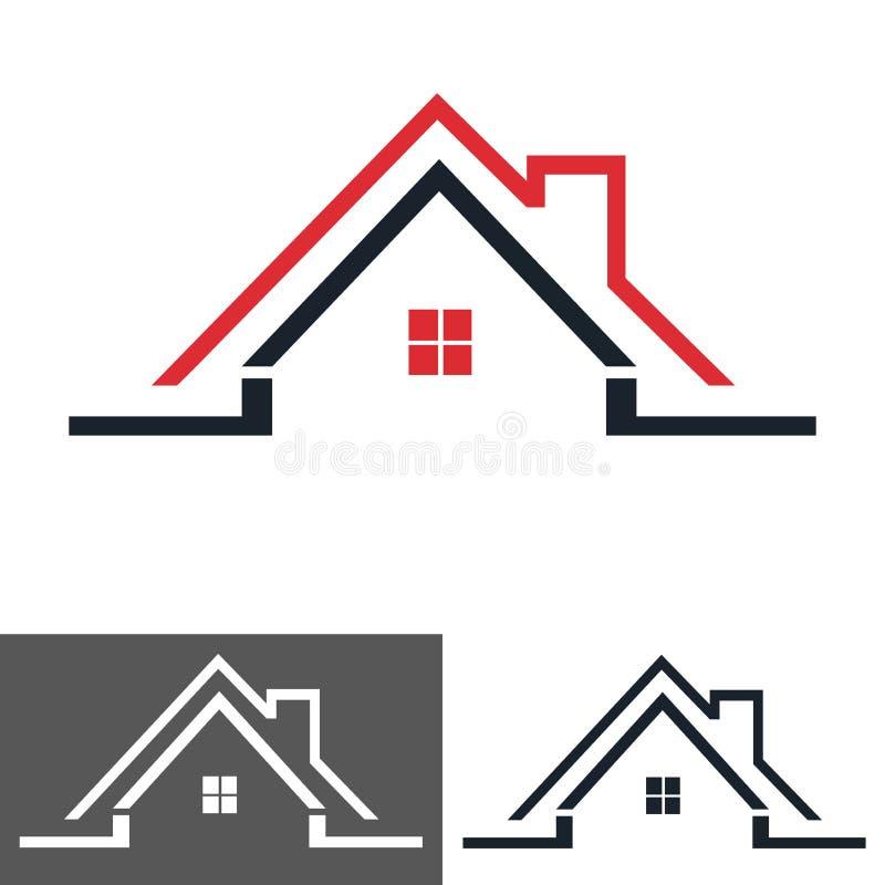 Casa, icona della casa, logo illustrazione di stock