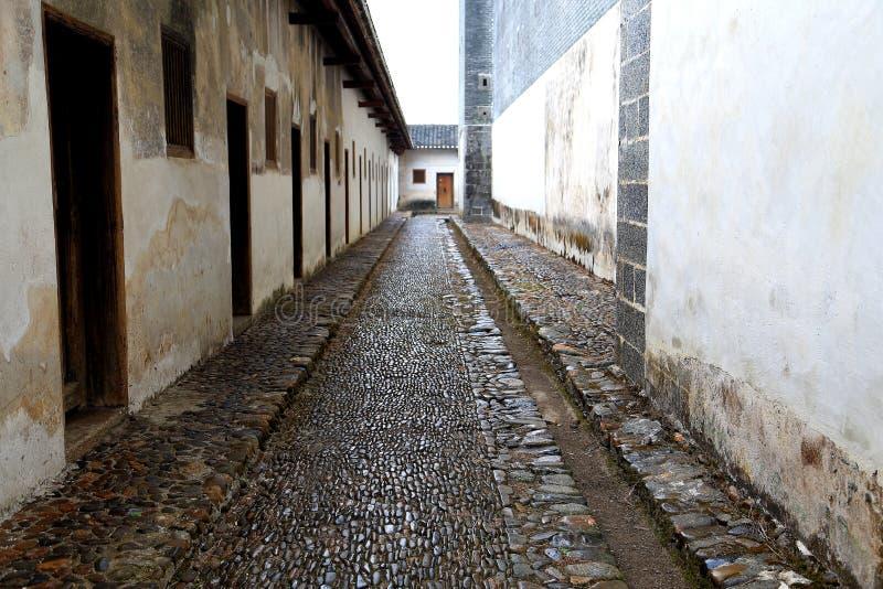 Casa inclusa di hakka di Mantang fotografia stock