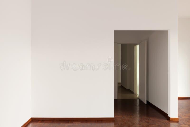 Apartamento interior, vazio imagens de stock