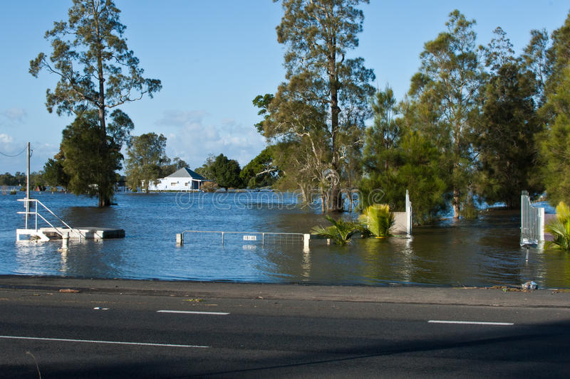 Casa inundada Taree fotografía de archivo